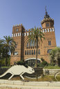 Castle of the three dragons barcelona castell dels tres in ciutadella park built in catalonia spain Royalty Free Stock Image