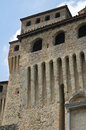 Castle of torrechiara emilia romagna italy perspective the Stock Images