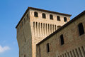 Castle of torrechiara emilia romagna italy perspective the Stock Image