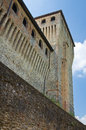 Castle of torrechiara emilia romagna italy perspective the Royalty Free Stock Image