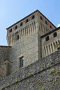 Castle of torrechiara emilia romagna italy perspective the Royalty Free Stock Images