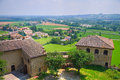 Castle of torrechiara emilia romagna italy perspective the Stock Photo