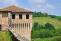 Castle of torrechiara emilia romagna italy perspective the Royalty Free Stock Photography