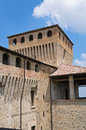 Castle of torrechiara emilia romagna italy perspective the Royalty Free Stock Photo