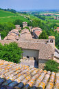 Castle of torrechiara emilia romagna italy perspective the Stock Photography