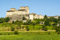 Castle of torrechiara parma emilia romagna italy medieval building Royalty Free Stock Photos