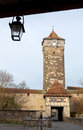 Castle tower of rothenburg ob der tauber old gate with in germany Royalty Free Stock Photography