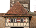 Castle tower of rothenburg ob der tauber old gate with in germany Stock Photos