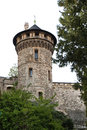 Castle tower at the in wernigerode in the harz germany Royalty Free Stock Photography