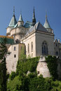 Castle towers of in bojnice slovakia Royalty Free Stock Photo