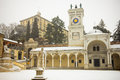 Castle udine taken piazza libertã  winter snow Stock Images