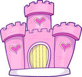 Castle Vector Illustration Royalty Free Stock Photography