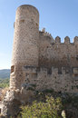 Castle view of the nestled in the rock with a defensive character of the population of frias burgos castile and leon spain Royalty Free Stock Photo