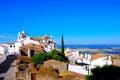 Portugal - Castle View, Travel Alentejo Region, Picturesque Village, Monsaraz, Plain Landscape Royalty Free Stock Photo