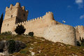 Castle of villena alicante spain view the Stock Images