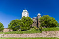 Castle in vyborg at the sunny day russia Stock Photo