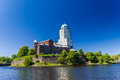 Castle in vyborg at the sunny day russia Royalty Free Stock Photos