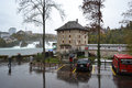 Castle wörth near the rhine falls neuhausen am rheinfall switzerland november at cloudy autumn day Royalty Free Stock Photo