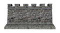 Castle wall - 3D render Royalty Free Stock Photo