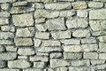 Castle wall old stone grey from ruins Royalty Free Stock Image