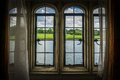 Castle Window Frame and landscape Royalty Free Stock Photo