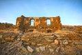 Castled stone house Royalty Free Stock Photo