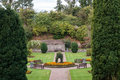 Castledykes park dumfries sunken garden built in and old sandstone quarry scotland Royalty Free Stock Photos