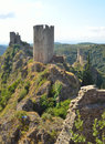 4 Castles at Lastours Castles Royalty Free Stock Photo