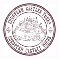 Castles Tours stamp Stock Photography