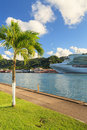 Castries waterfront p o cruise ship ventura docked in capital of st lucia the port offers a sheltered harbour and a preferred Stock Image