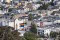 Castro district in san francisco california july hilltop view of s culturally diverse neighborhood Royalty Free Stock Images