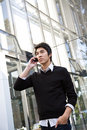 Casual asian businessman on the phone Stock Photography