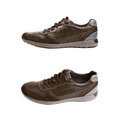 Casual brown leather shoe isolated Royalty Free Stock Photo