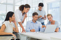 Casual business team having a meeting in the office Stock Photo