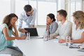 Casual business team having a meeting in the office Royalty Free Stock Image