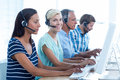 Casual call centre workers in the office Royalty Free Stock Photo