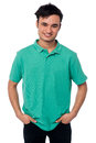 Casual cool young guy portrait Royalty Free Stock Photo