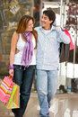 Casual couple shopping Royalty Free Stock Photo