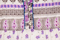Casual fabric with a hippie like pattern Royalty Free Stock Photography