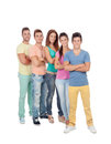 Casual group of friends Royalty Free Stock Photo
