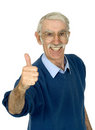 Casual happy old man Stock Images