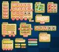 Casual Stripes Game UI Set