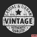 Casual and urban vintage stamp