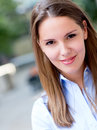 Casual woman portrait Stock Images