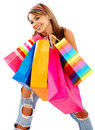 Casual woman with shopping bags Royalty Free Stock Photography