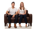 Casual Young Couple Stock Photos