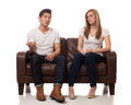 Casual Young Couple Royalty Free Stock Image