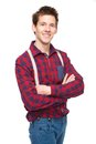 Casual young man smiling Royalty Free Stock Photos