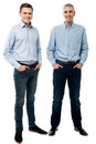 Casual young men posing in style Royalty Free Stock Photo