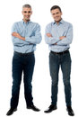 Casual young smiling men posing Royalty Free Stock Photo